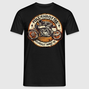 SSD Full Throttle retro racer - RAHMENLOS Biker Design orange classic color T-Shirts - Männer T-Shirt