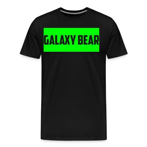Galaxy Bear Lime on Black T-Shirt - Men's Premium T-Shirt