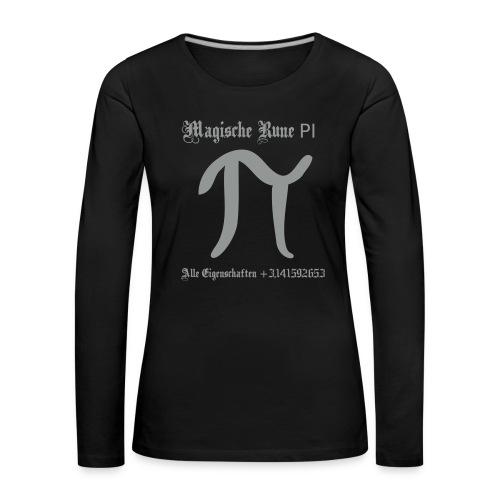 Rune Pi Nerd Langarm Frauen Shirt - Frauen Premium Langarmshirt