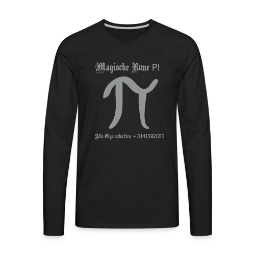 Rune Pi Nerd Männer Langarm Shirt - Männer Premium Langarmshirt