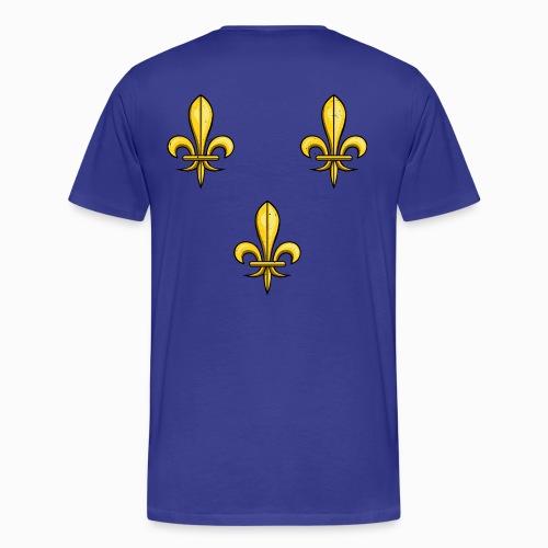 T-shirt Premium Homme 3 Fleurs de Lys - T-shirt Premium Homme