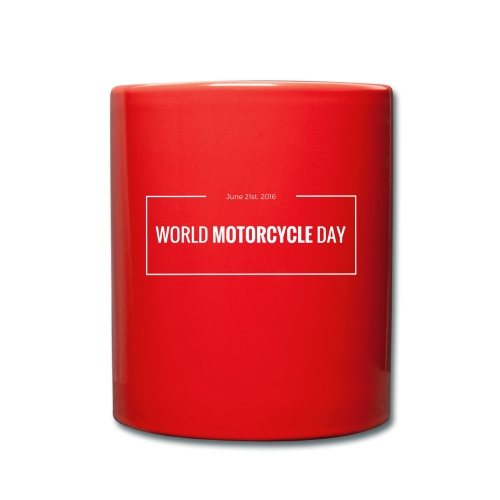 Official 2016 World Motorcycle Day Coffee Mug in Racing Red - Full Colour Mug