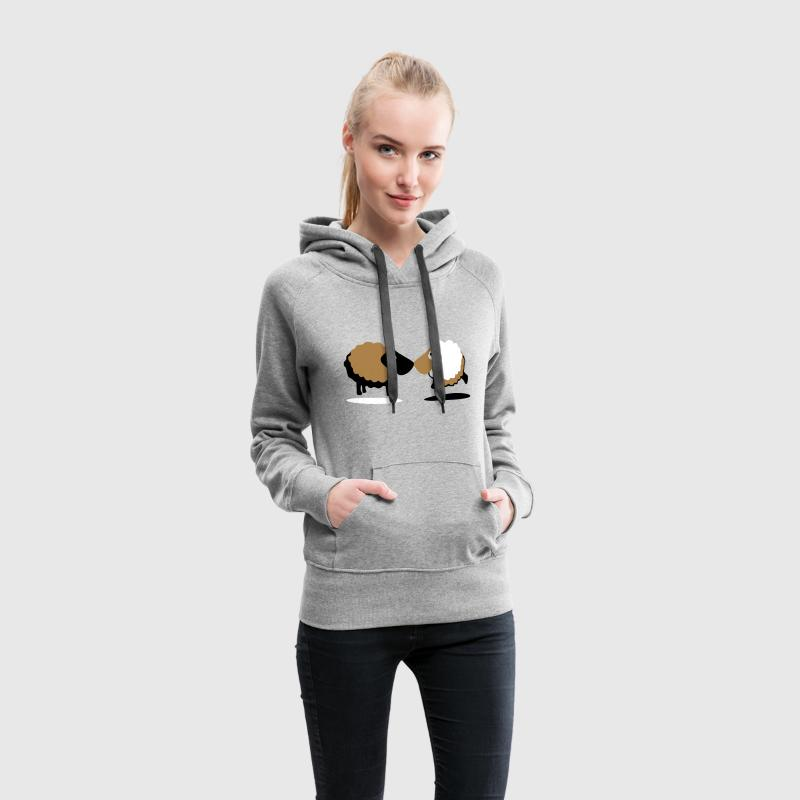 sheep Sweat-shirts - Sweat-shirt à capuche Premium pour femmes