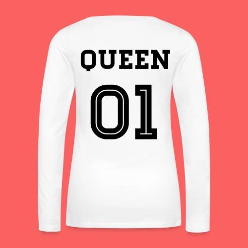 Queen 01 Sweatshirt - Frauen Premium Langarmshirt