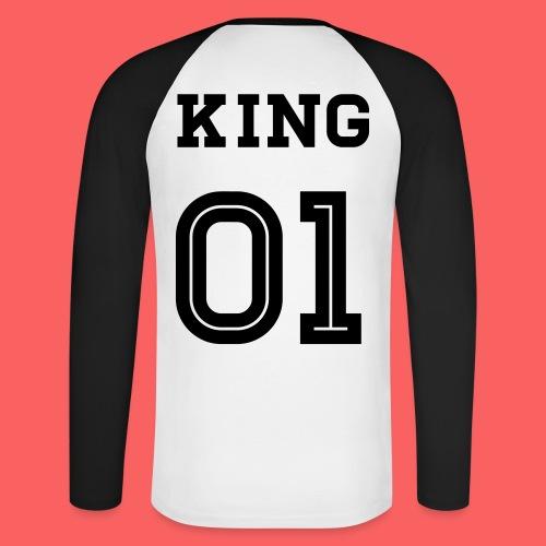 King 01 Sweatshirt - Männer Baseballshirt langarm