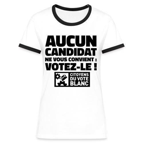 Tee-shirt Fille recto - T-shirt contrasté Femme