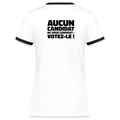 Tee-shirt Fille recto-verso - T-shirt contrasté Femme
