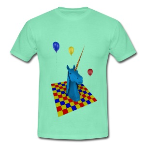 camiseta clasica hombre unicornio party - Camiseta hombre