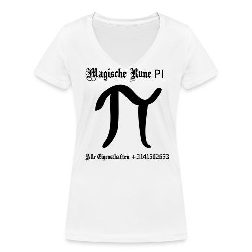 Rune Pi Nerd T-Shirt - Frauen Bio-T-Shirt mit V-Ausschnitt von Stanley & Stella
