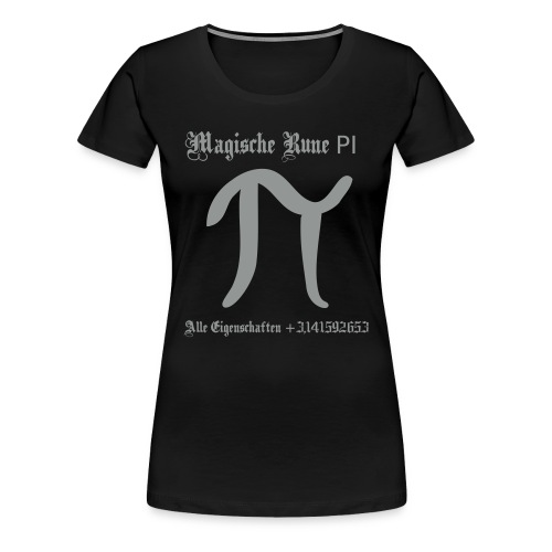 Rune Pi Nerd T-Shirt - Frauen Premium T-Shirt