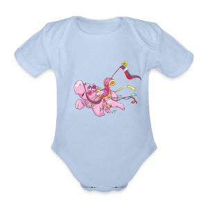 Hippo Baby Body - Organic Short-sleeved Baby Bodysuit