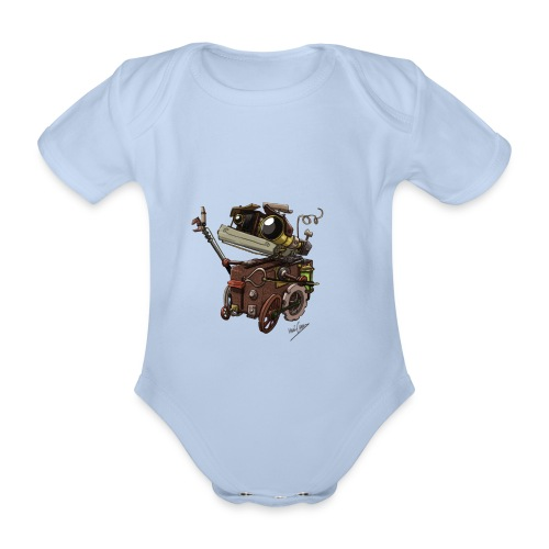 Robot Baby Body - Organic Short-sleeved Baby Bodysuit