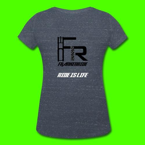 Frankenride T-Shirt V-Ausschnitt für Frauen - Frauen Bio-T-Shirt mit V-Ausschnitt von Stanley & Stella