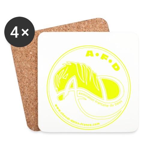 sous-verres logo jaune - Dessous de verre (lot de 4)