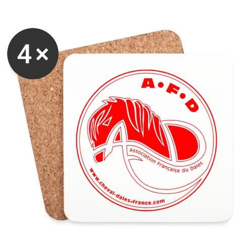 sous-verres logo rouge - Dessous de verre (lot de 4)
