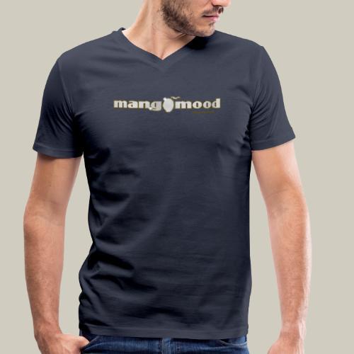 Männer T-Shirt mit V-Ausschnitt und Glitzer-Logo - Männer Bio-T-Shirt mit V-Ausschnitt von Stanley & Stella