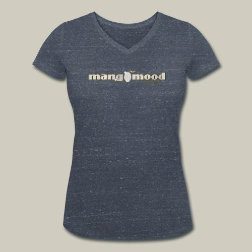 Frauen T-Shirt mit Glitzer-Logo - Frauen Bio-T-Shirt mit V-Ausschnitt von Stanley & Stella