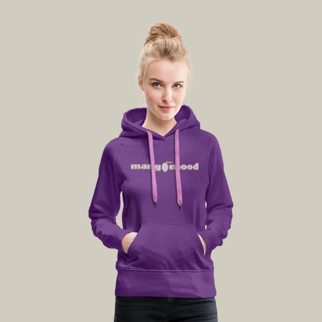 Frauen Premium Kapuzenpullover mit Glitzer-Logo
