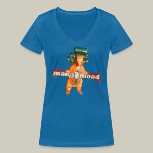 Frauen T-Shirt mit mangomood Monster - Frauen Bio-T-Shirt mit V-Ausschnitt von Stanley & Stella