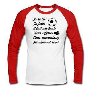 T-SHIRT STYLE BASEBALL - MANCHES LONGUES - ARBITRE - T-shirt baseball manches longues Homme