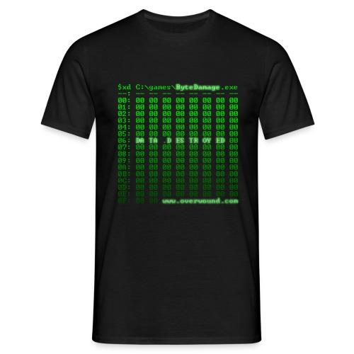 Byte Damage Data Destroyed - Men's T-Shirt