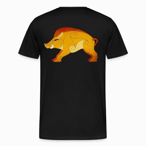 Tshirt Homme Sanglier Gaulois au Dos - T-shirt Premium Homme