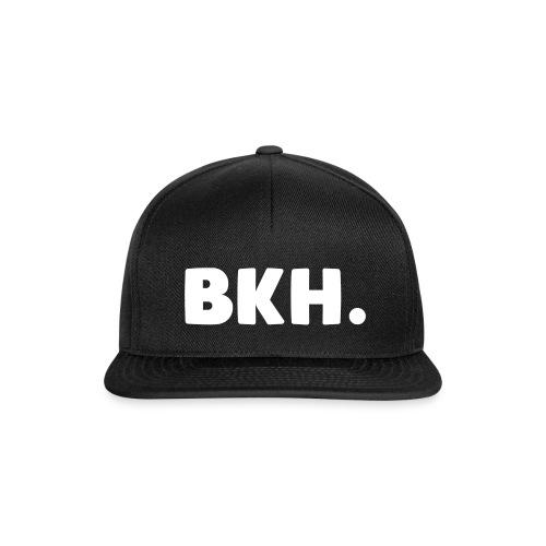 bobkuhh pet (zwart met witte tekst) - Snapback Cap