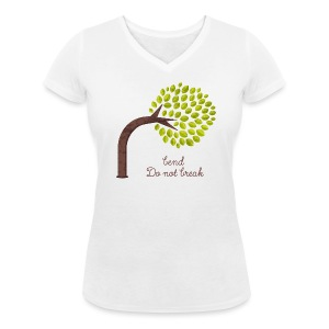 Bend and do not Break Color T-Shirts - Women - Women's Organic V-Neck T-Shirt by Stanley & Stella