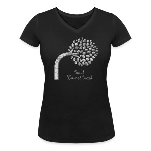 Bend and do not Break T-Shirts - Women - Women's Organic V-Neck T-Shirt by Stanley & Stella