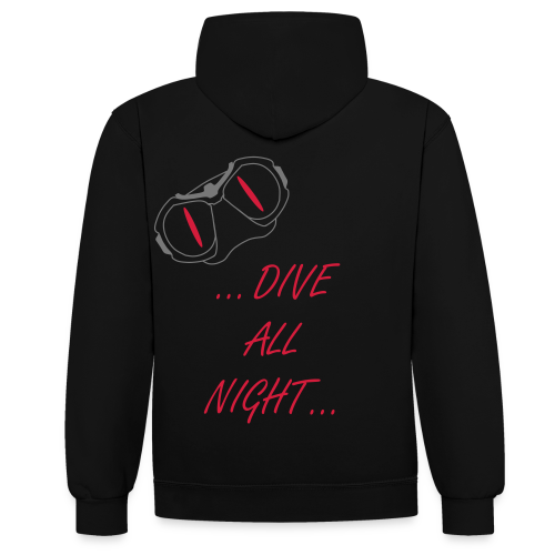 Dive all night - Kontrast-Hoodie