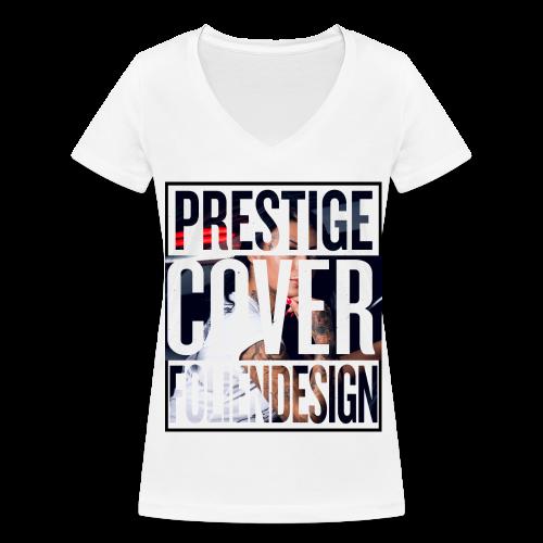Frauen Shirt Prestige Cover Foliendesign - Frauen Bio-T-Shirt mit V-Ausschnitt von Stanley & Stella