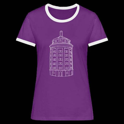 Wasserturm am Kollwitzplatz (Dicker Hermann) - Frauen Kontrast-T-Shirt