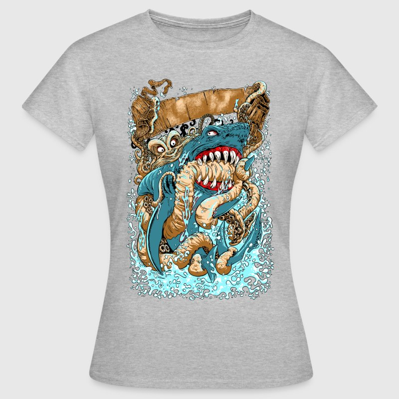 OCTOPUS v SHARK WOMEN T-SHIRT - Women's T-Shirt