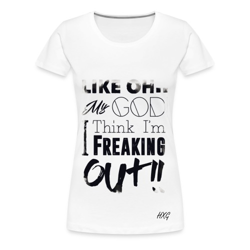 Like OMG Black By HXG Womens (Available in White Only) - Women's Premium T-Shirt