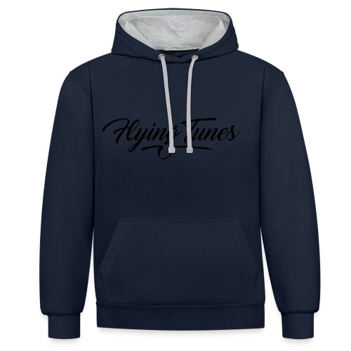 FlyingTunes Chill Jumper Contrast - Contrast Colour Hoodie