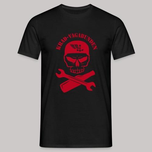 T-Shirt Männer - Totenkopf, Pulle & Schraubenschlüssel (roter Aufdruck) - Männer T-Shirt