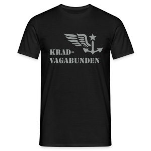 t-shirt - men - krad-vagabunden - grey print - Men's T-Shirt