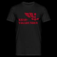 T-Shirts ~ Männer T-Shirt ~ T-Shirt Männer: Logo + Schriftzug vorne (roter Aufdruck)