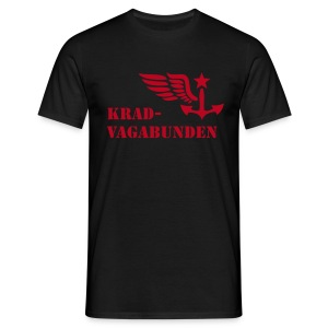 t-shirt - men - krad-vagabunden - red print - Men's T-Shirt