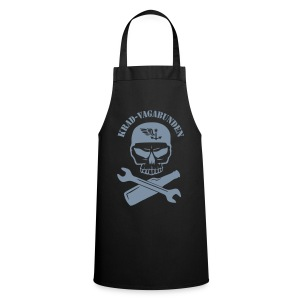 apron - wrench & bottle - grey print - Cooking Apron