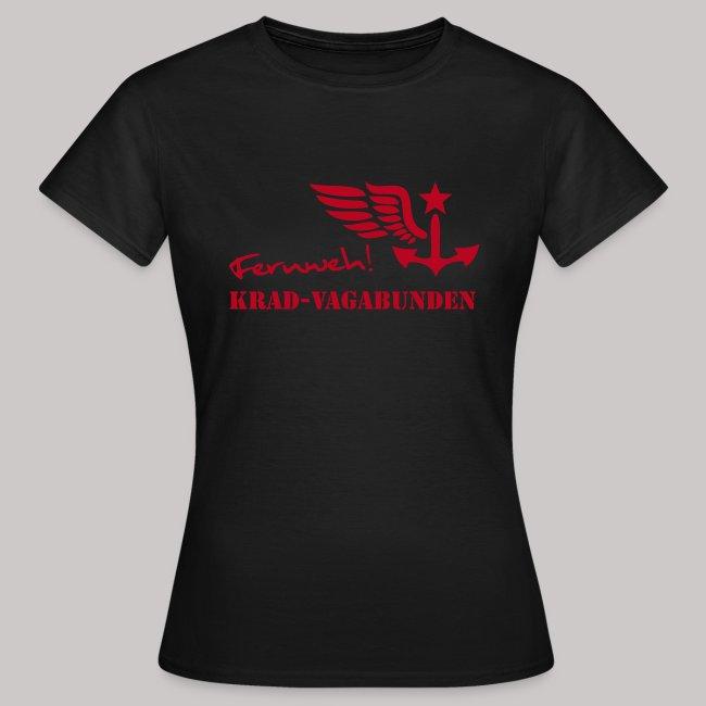 FERNWEH - T-Shirt Damen (Aufdruck rot)