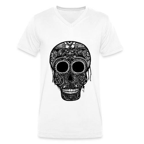 T-shirt Homme SugarSkull - T-shirt bio col V Stanley & Stella Homme
