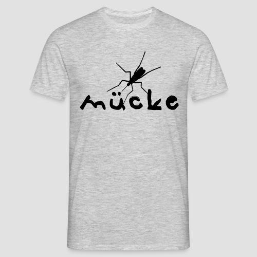Mücke T-Shirt Schwarz auf Grau meliert - Männer T-Shirt