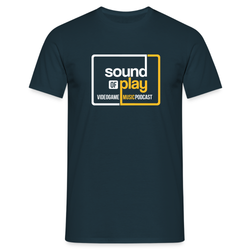 Sound of Play boxed logo Navy - Men's T-Shirt