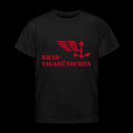 T-Shirts ~ Kinder T-Shirt ~ KRAD-VAGABÜNDCHEN - Kinder-T-Shrit (Aufdruck rot)