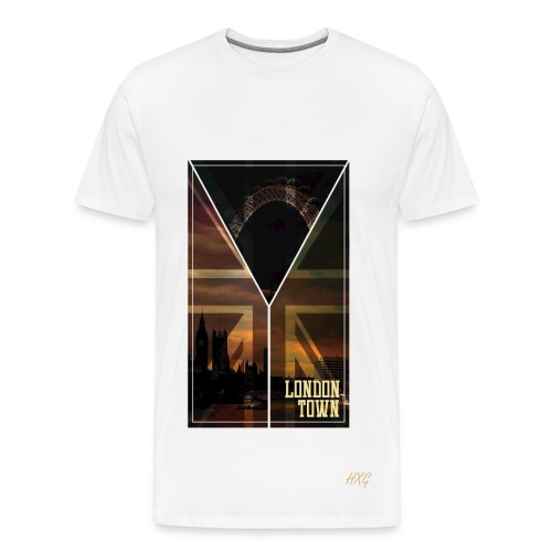 London Town By HXG Mens (Available in Black & White) - Men's Premium T-Shirt