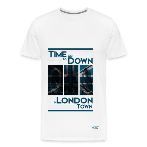 Down In.. Blue By HXG Mens (Available in Black & White) - Men's Premium T-Shirt