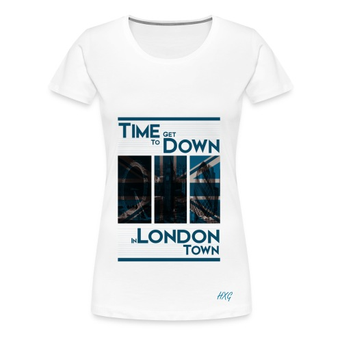 Down In.. Blue By HXG Womens (Available in Black & White) - Women's Premium T-Shirt
