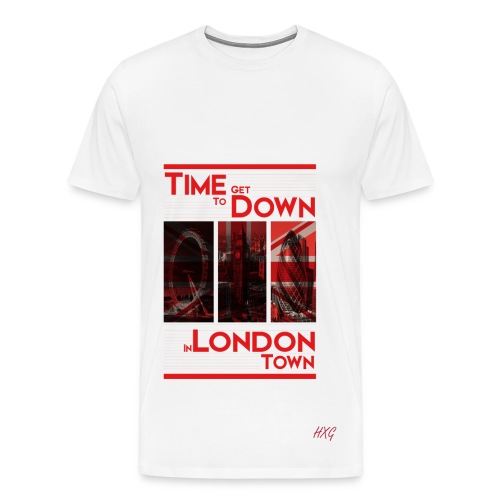 Down In.. Red By HXG Mens (Available in Black & White) - Men's Premium T-Shirt