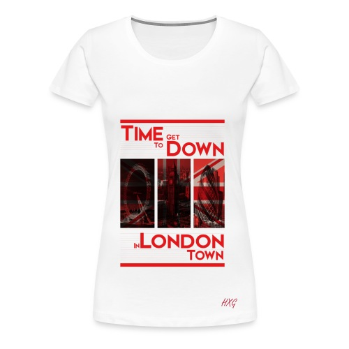 Down In.. Red By HXG Womens (Available in Black & White) - Women's Premium T-Shirt